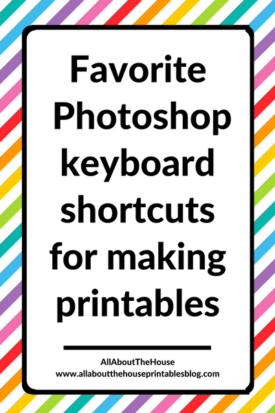 how to make printables in photoshop keyboard shortcuts tutorial planner stickers graphic design for beginners