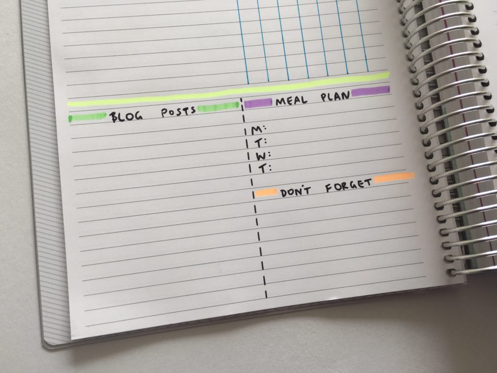 how to set your planner up for a productive week color coding planner supplies highlighters weekly planning plan with me diy planner inspo
