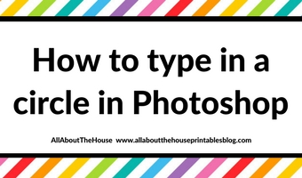 How to type in a circle in Photoshop (step by step tutorial on how to make circle text)