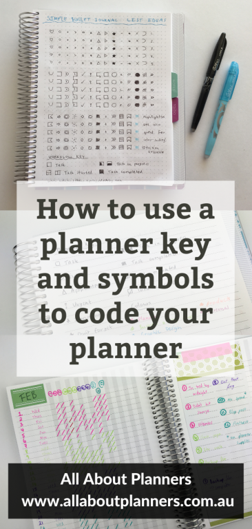 how to use a planner key and symbols to code your planner tips planner newbie beginner ideas color coding organized how to get the most out of your planner