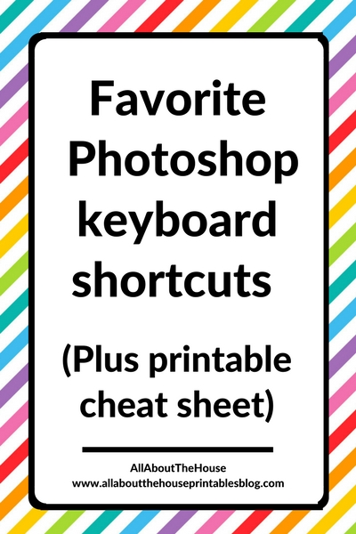 keyboard shortcuts photoshop tutorial video download cheat sheet reference guide list printable speed up workflow graphic design