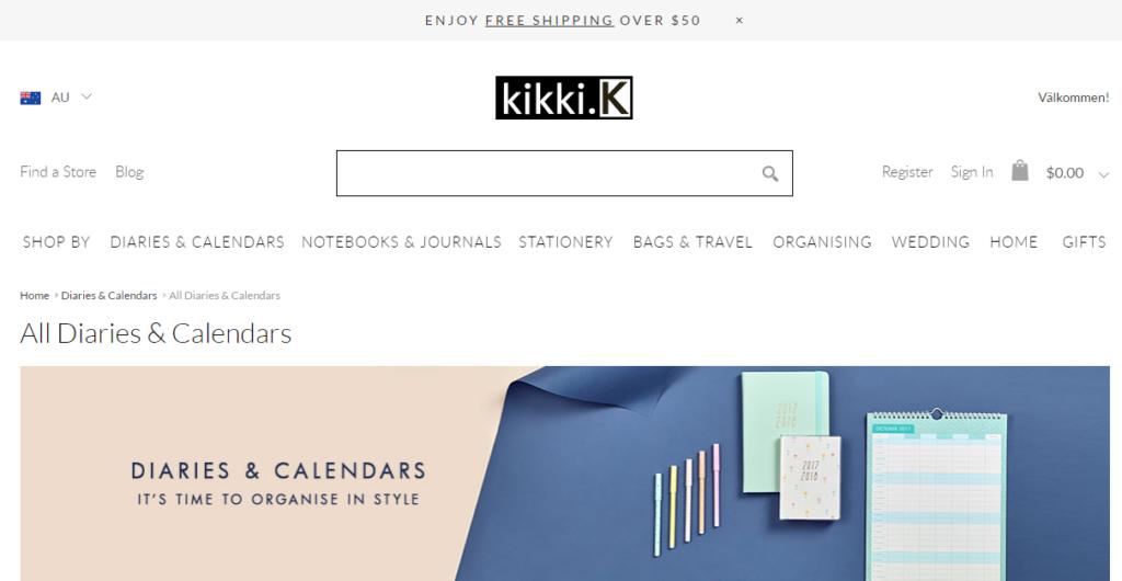 kikki k international shipping favorite australian planner companies free shipping notebook insert refill diary haul review