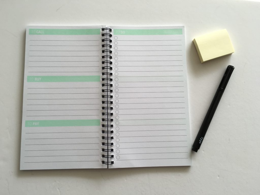 kmart lists book cheap stationery alternatives to a traditional planner simple minimalist design sticky notes pre plan week spread planning