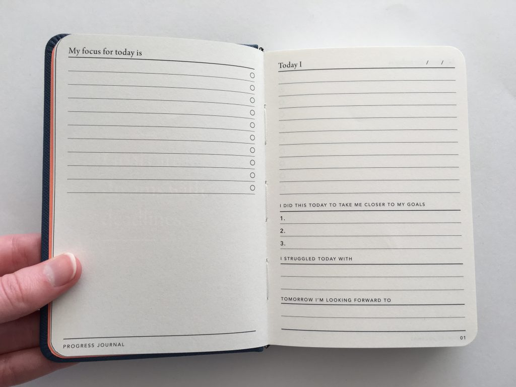 mi goals planner progress journal review a6 mini notebook to do task goal setting track productivity time management minimalist