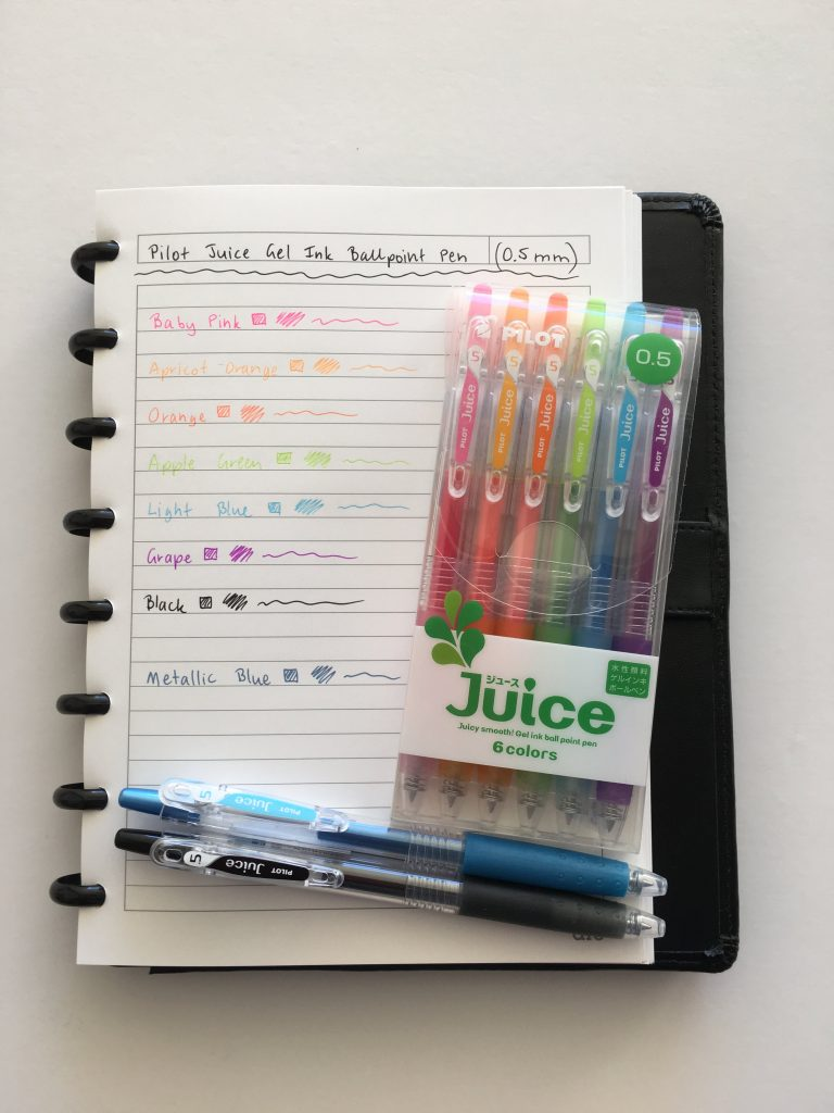 pilot juice pens review where to buy in australia fine tip gel pen rainbow color coding planner supplies ballpoint no bleed or ghosting erin condren plum paper-min