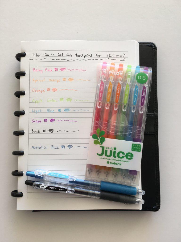 pilot juice pens review where to buy in australia fine tip gel pen rainbow color coding planner supplies ballpoint no bleed or ghosting erin condren plum paper-min