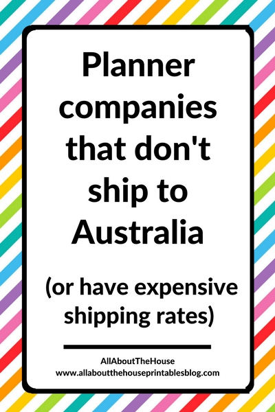 planner companies that don't ship to australia or have expensive shipping to australia international mail post buy cheap aussie