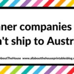 Planner companies that don't ship to Australia (or have expensive shipping to Australia)