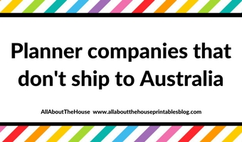 planner companies that don't ship to australia or have expensive shipping to australia international post mail buy cheap aussie