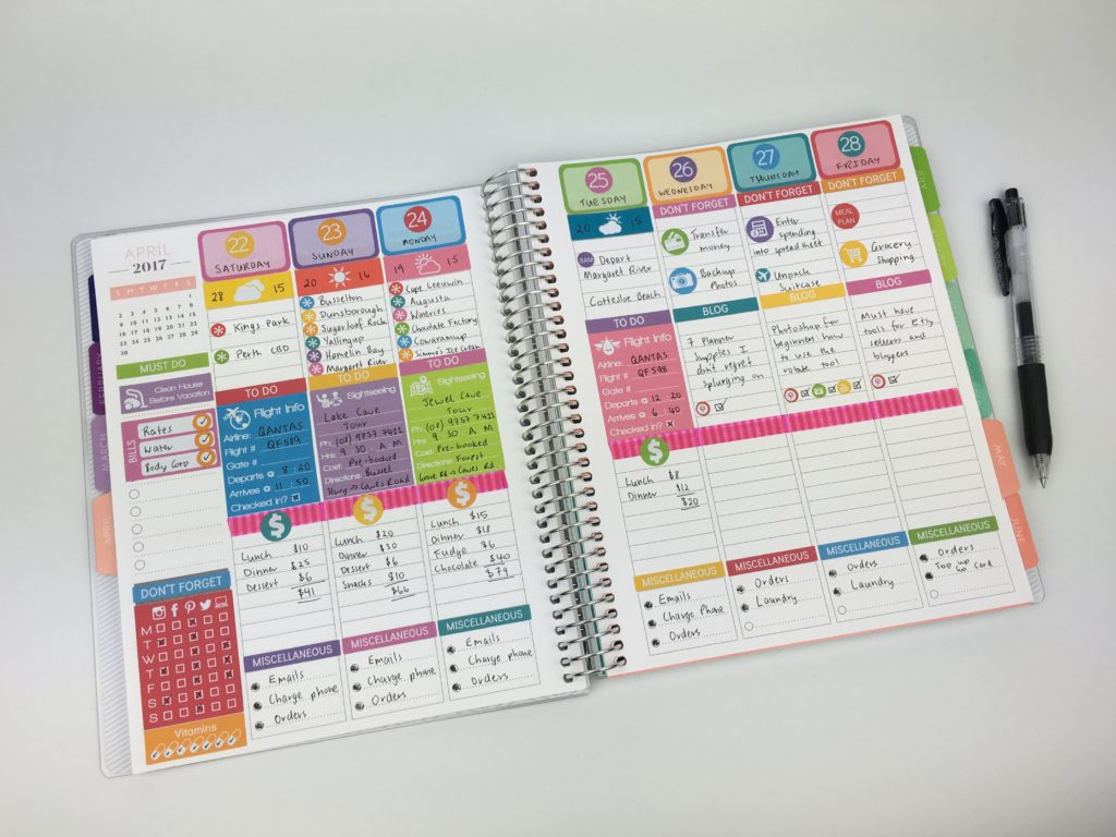 plum paper vertical life planner review plan with me do erin condren size stickers fit rainbow simple travel weekly spread plan with me