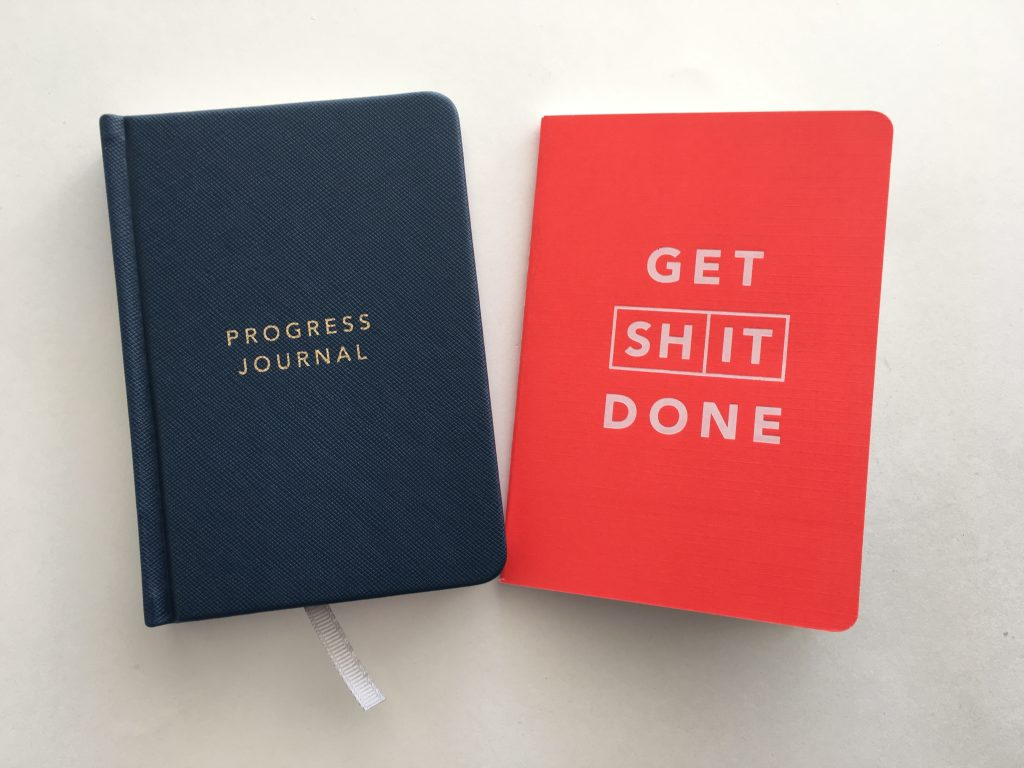 progress journal get shit done mi goals notebook planner review haul planners made in australia simple minimalist goal setting productivity mini a6