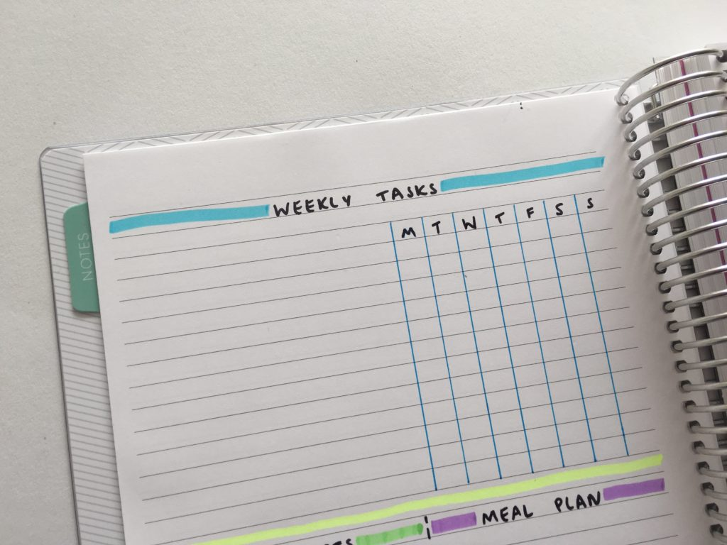 setting up a weekly spread in a bullet journal highlighter habit tracker simple planner ideas inspiration problems diy cheap hack