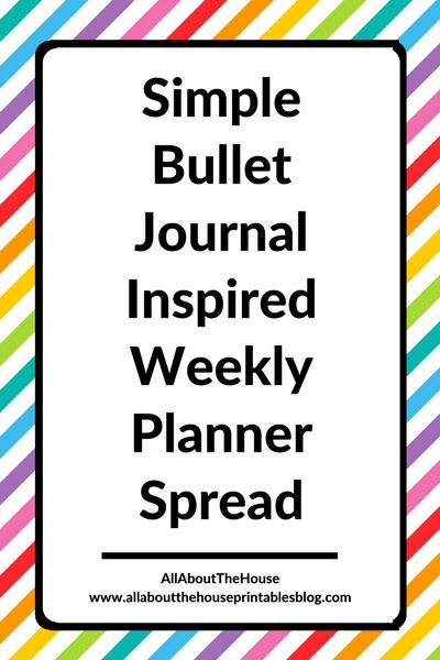 simple planner spread minimalist black and white bullet journalling with stickers diy bujo inspiration ideas