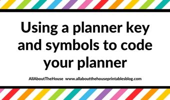 Using a planner key and symbols to code your planner (efficient planning methods)
