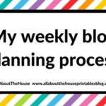 My weekly blog planning process (how I organize and plan for the week ahead every Sunday)