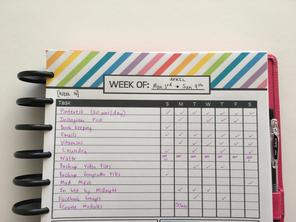 weekly habit tracker printable free bullet journal bujo inspiration planner ideas diy discbound planning arc notebook 1 page week planner