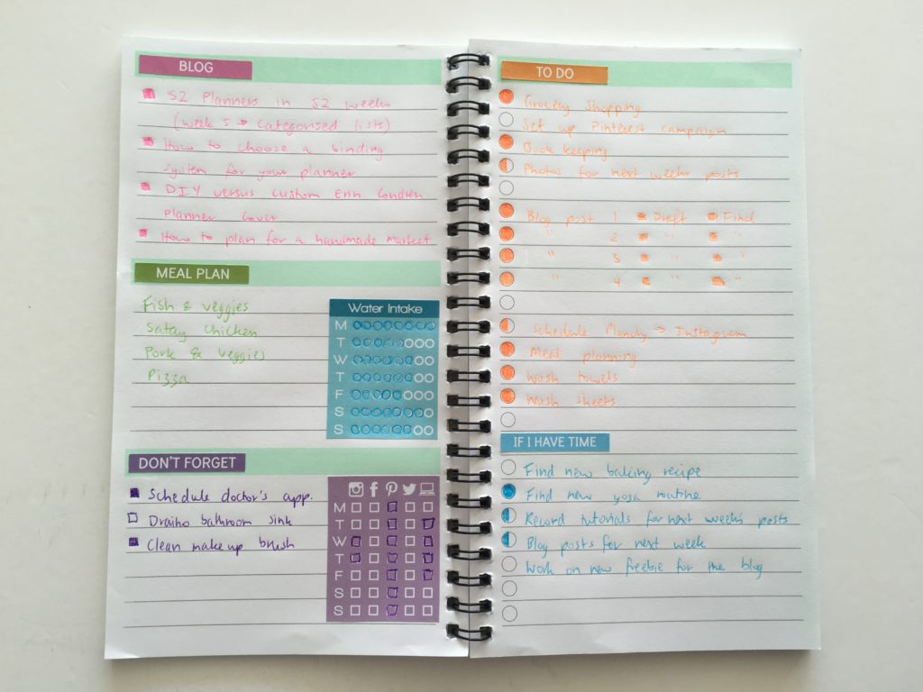 weekly planning how to pre plan your week unusual planner layout cheap planner high versus low stationery color coding simple