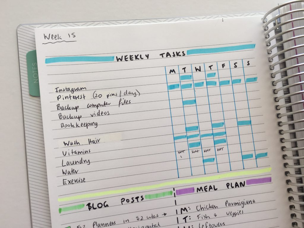 100 Things To Put In Your Habit Tracker Of Your Planner Or