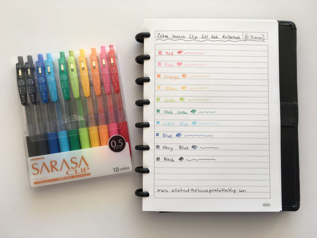 zebra sarasa pen rainbow color coding favorite planner pens no bleed retractable erin condren plum paper kikki k day designer