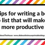 50 Tips for writing a better to do list that will make you more productive