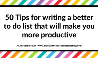 50 tips for writing a to do list that will make you more productive efficient plan with me weekly planning diy