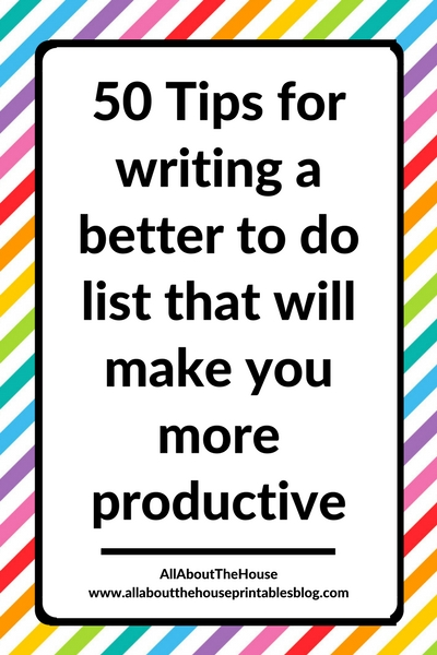 50 tips for writing a to do list that will make you more productive efficient time management productivity