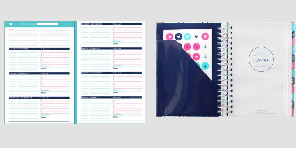 ashley shelley review planner roundup probably haven't heard of horizontal checklist 2 pages per week simple minimalist
