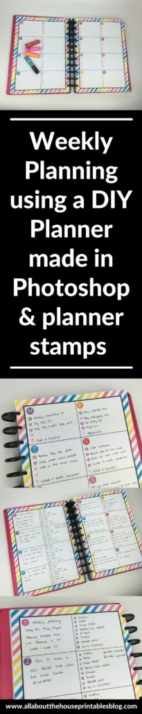 diy weekly planner tutorial photoshop planning with stamps frixion erasable review blog planning color coding inspiration bujo