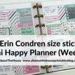 Using Erin Condren size planner stickers in the Mini Happy Planner (52 planners in 52 weeks – Week 22)