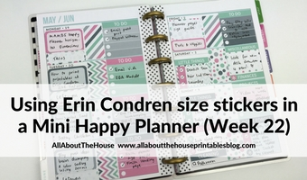 Using Erin Condren size planner stickers in the Mini Happy Planner (52 planners in 52 weeks – Week 22)