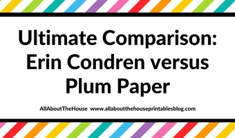 Ultimate Comparison: Erin Condren Life Planner versus Plum Paper Planners – Which planner is better?