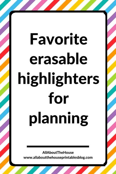 favorite erasable highlightersfor planning planner supplies frixion erase smiggle typo comparison best splurge color coding