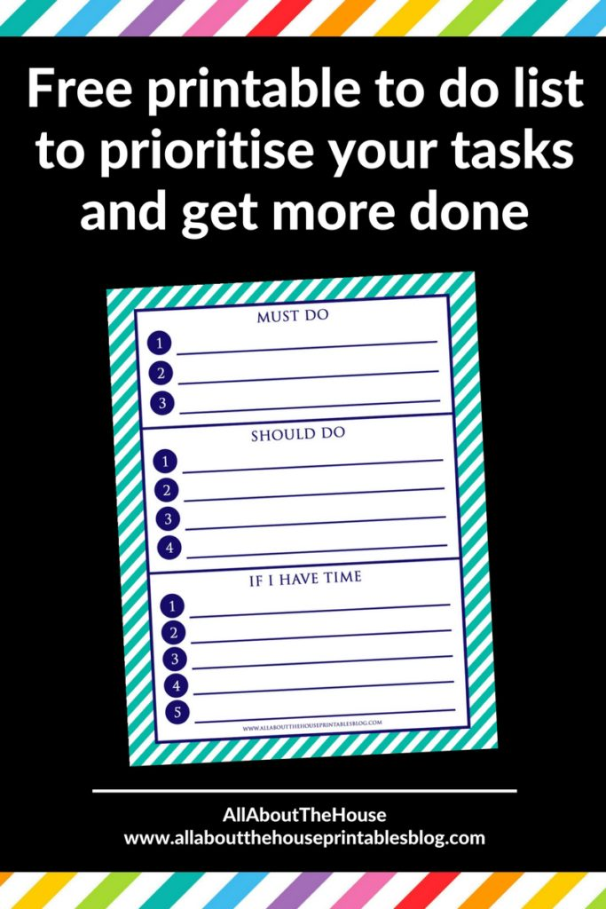 free printable categorised to do checklist cleaning task daily planner preppy stripe how to make printables diy photoshop
