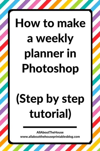 how to make a weekly planner in photoshop step by step tutorial. Black Bedroom Furniture Sets. Home Design Ideas