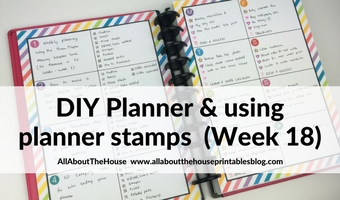 Making a DIY printable planner with a flexible layout (52 planners in 52 weeks – week 18)