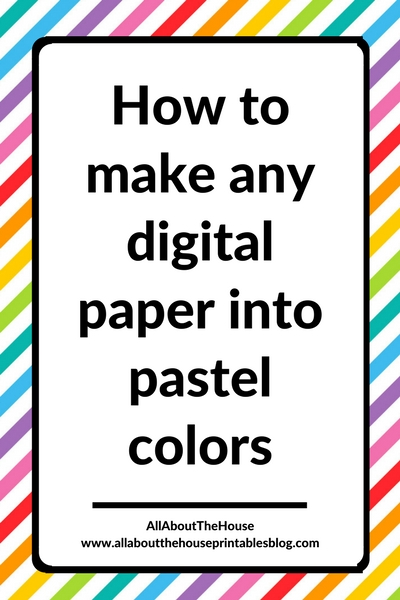 how to make any digital paper into pastel colors quick and easy tutorial photoshop for beginners seamless pattern design