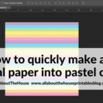 How to make any digital paper into pastel colours using Photoshop (quick and easy step by step tutorial)