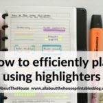 6 Useful ways to efficiently plan your week using highlighters