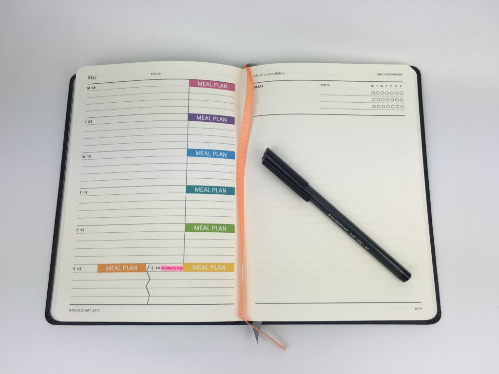 mi goals weekly planner review color coding by day simple minimalist planner spread inspiration made in australia alternative to bullet journal habit tracker