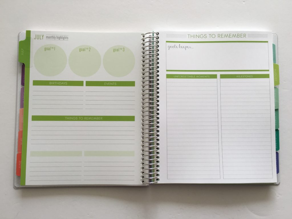 plum paper memory keeper book review non-traditional planner layout ideas inspiration cheaper alternative 1 page per week layout inspo