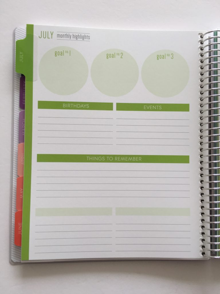 plum paper monthly calendar comparison with erin condren review monthly notes page goal setting how to use blank pages birthdays effectively use planner ideas inspiration