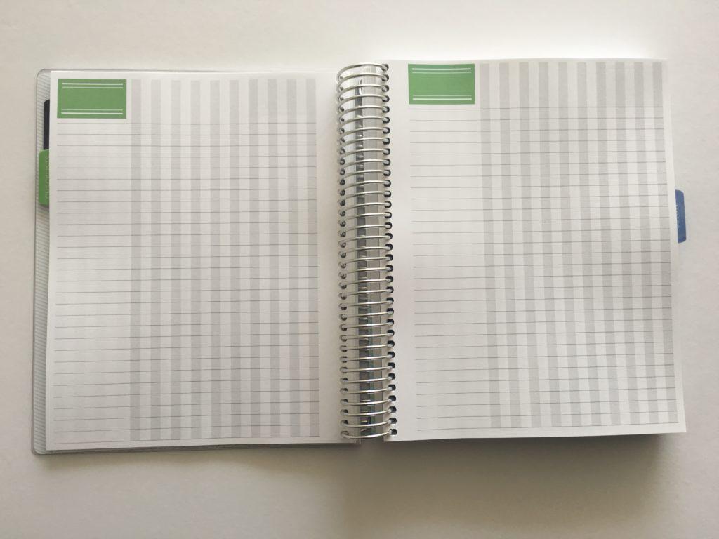 plum paper planner review habit tracker page template class attendance log teacher planner cheaper alternative to erin condren