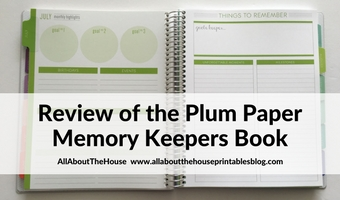 review of plum paper memory keepers notebook alternative to traditional planner haul 1 page weekly spread plan with me
