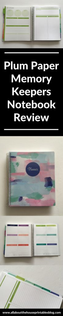 review of plum paper memory keepers notebook alternative to traditional planner haul cheaper alternative erin condren 1 page diy