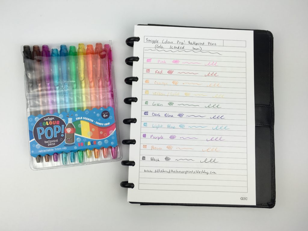 smiggle planner pen review haul rainbow scented cute stationery favorite places to buy stationery in australia rainbow plan with me