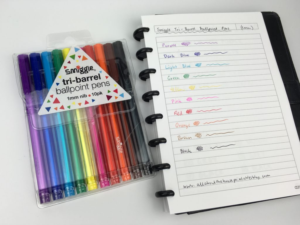 tri grip pen rainbow planner supplies color coding inspiration smiggle review haul best blogs about planners and planning plan with me