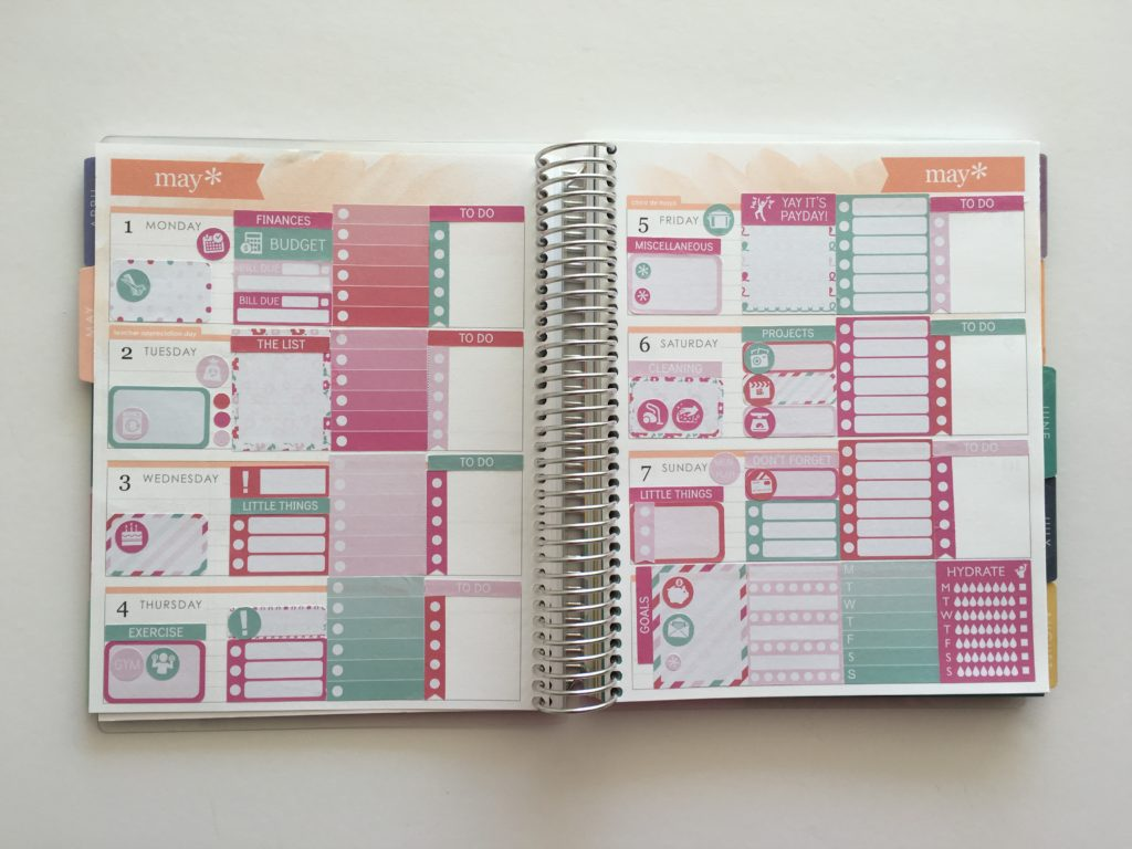using erin condren vertical planner sticker kit in horizontal life planner sticker size guide floral themed weekly spread