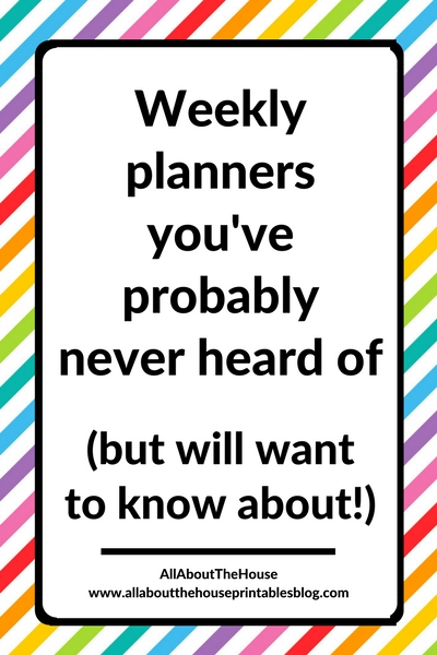 weekly planners youve probably never heard of unusual planner layout alternative to erin condren roundup academic school college
