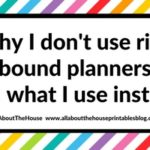 Why I don't use ring bound planners (and what I use instead)