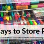 How to store planner pens (5 ways – and my favorite method!)